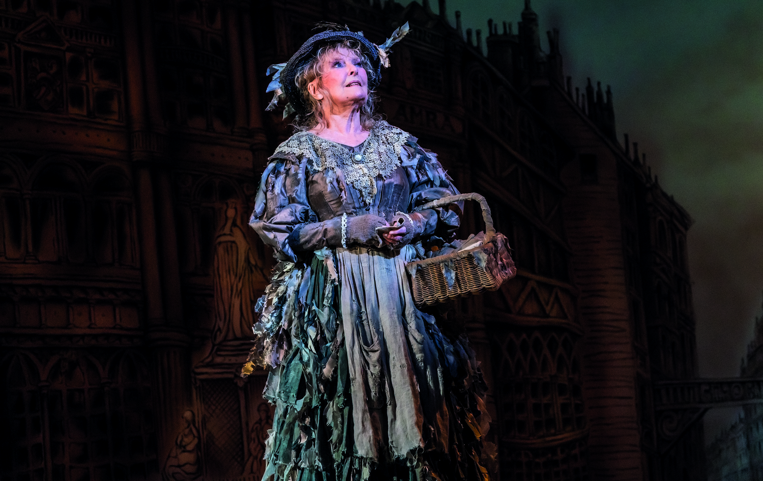 Petula Clark as The Bird Woman in Mary Poppins - Photograph Johan Persson