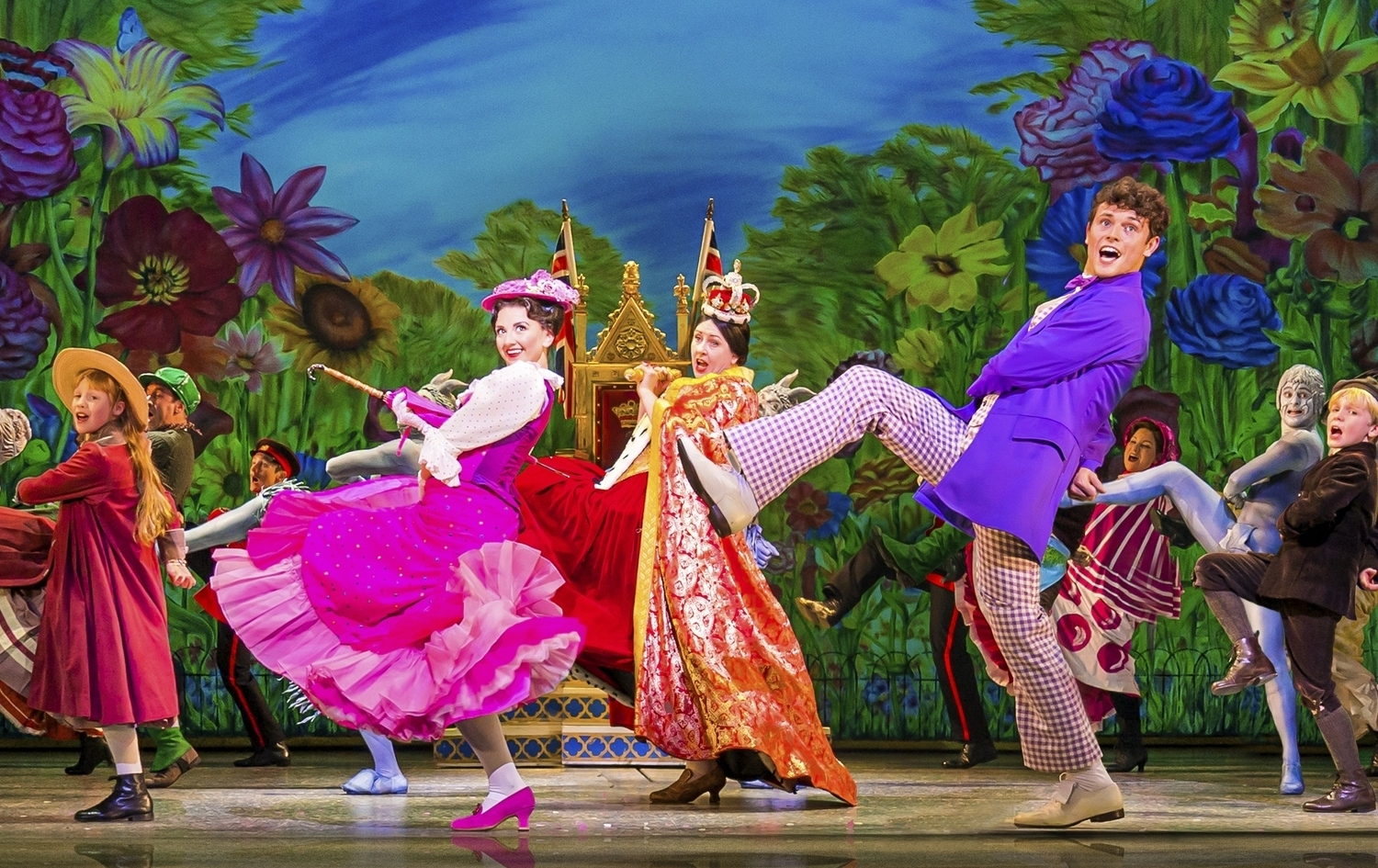 Zizi Strallen, Charlie Stemp and Company in Mary Poppins - Photograph Johan Persson