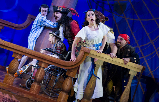 © Peter Pan Goes Wrong 2015-16 Original West End London Cast. Photography by Robert Day