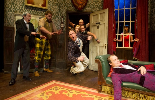 © The Play That Goes Wrong 2014 Original London Cast. Photography by Alastair Muir
