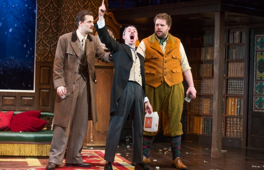© The Play That Goes Wrong 2017 Original Broadway Cast. Photography by Jeremy Daniel