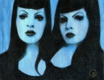 Blue (double portrait of Francesca)…