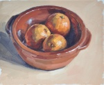 Three Oranges in an Earthenware Dis…