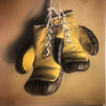 Brown and Yellow Gloves