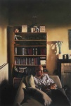 Portrait with Bookcase