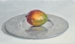 Mango in a Metal Dish