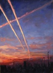 Jet Trails at Sunset