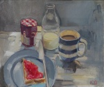 Still Life with Strawberry Jam