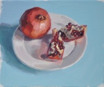 Pomegranates on a Plate