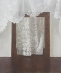Doorway With Lace Curtain