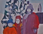 Children Standing in the Snow