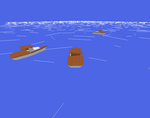 Three boats in the void