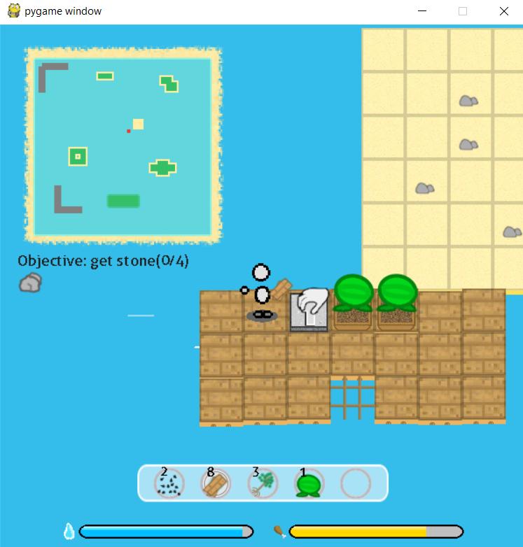 a sandbox survival game as a castaway ig