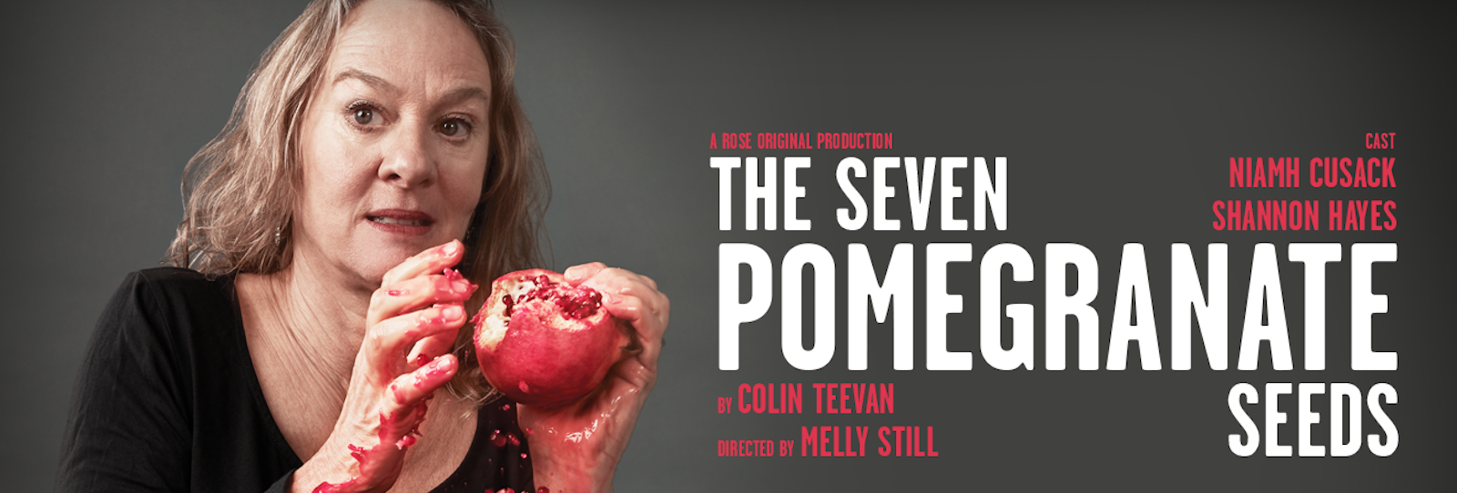 Shannon Hayes to join Niamh Cusack in world premiere of Colin Teevan's The Seven Pomegranate Seeds at Rose Theatre