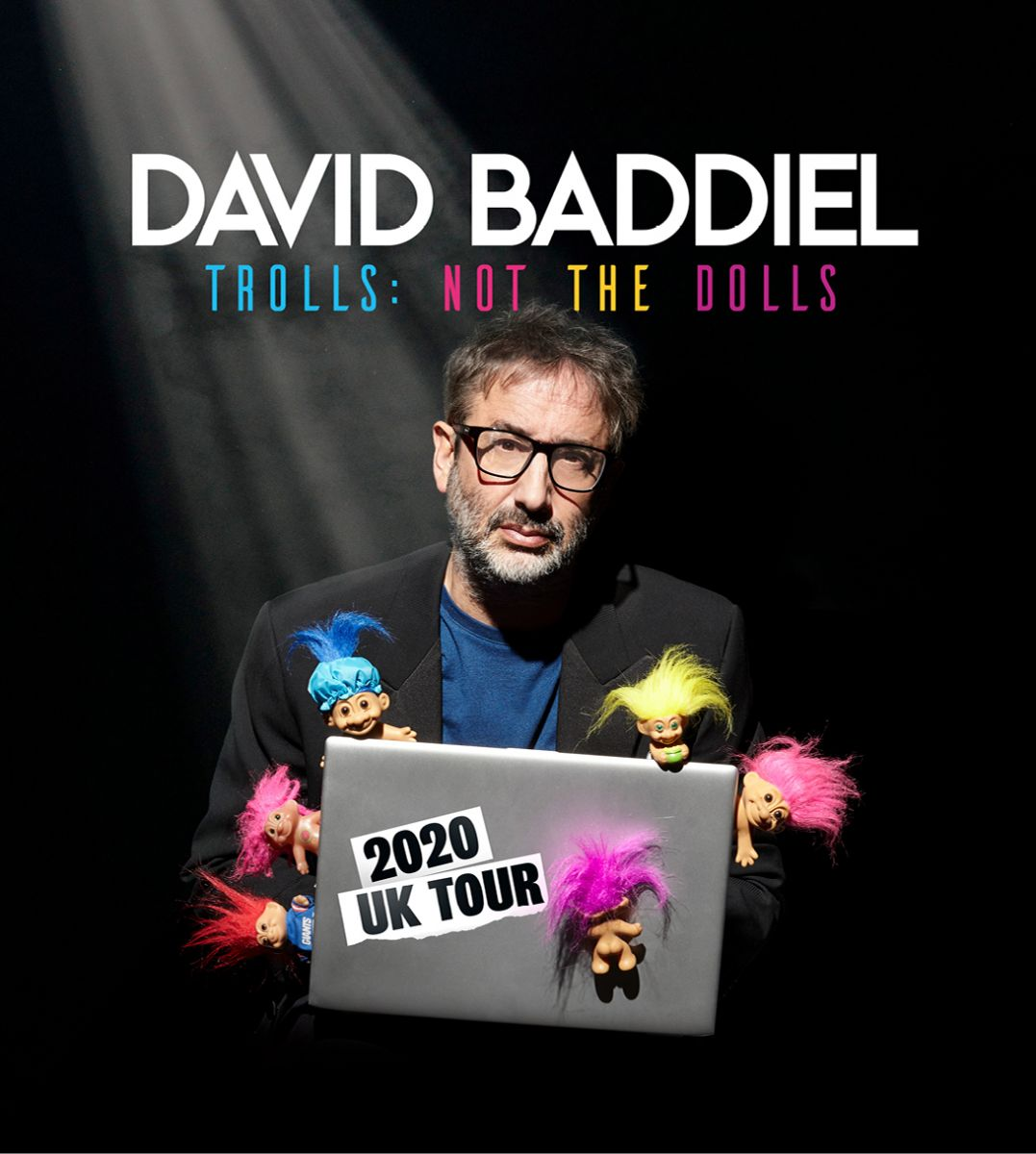 David Baddiel: Trolls Not The Dolls (postponed from Sun 11 Oct)