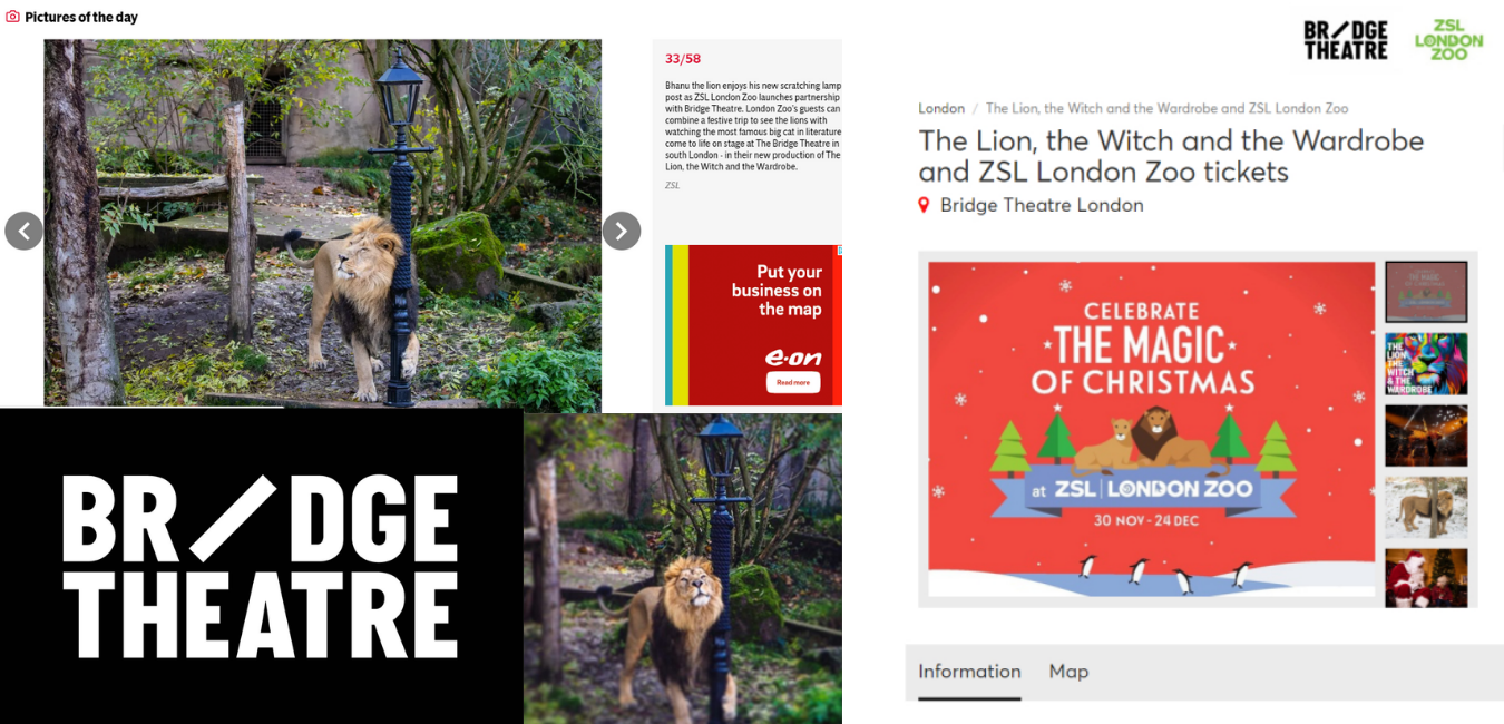 The Lion, The Witch & The Wardrobe x London Zoo