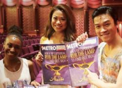 Aladdin x Metro: Heat-activated newspaper cover wraps