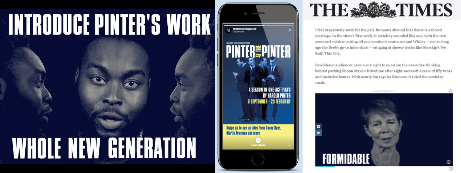 Pinter at the Pinter x The Times: Sponsored Instagram Story