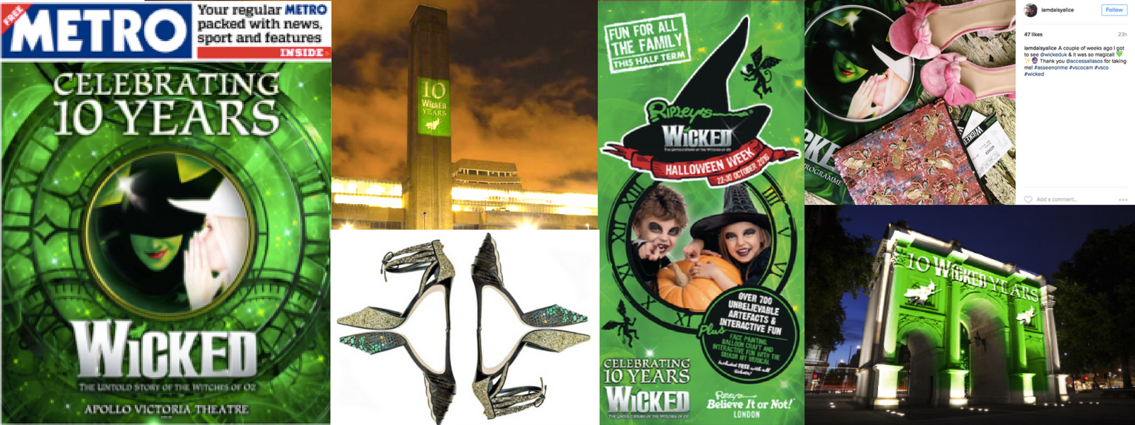 Wicked: 10th Birthday Campaign