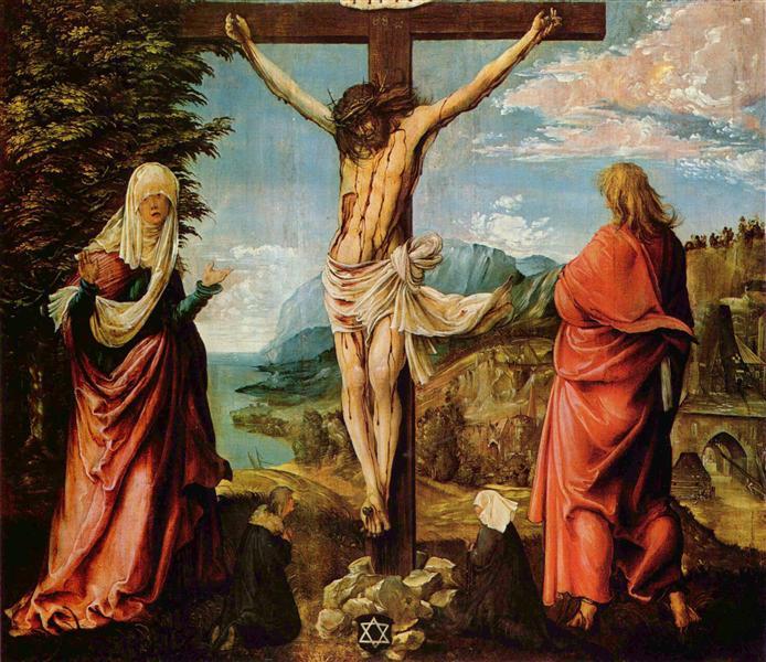 Crucifixion scene by Albrecht Altdorfer