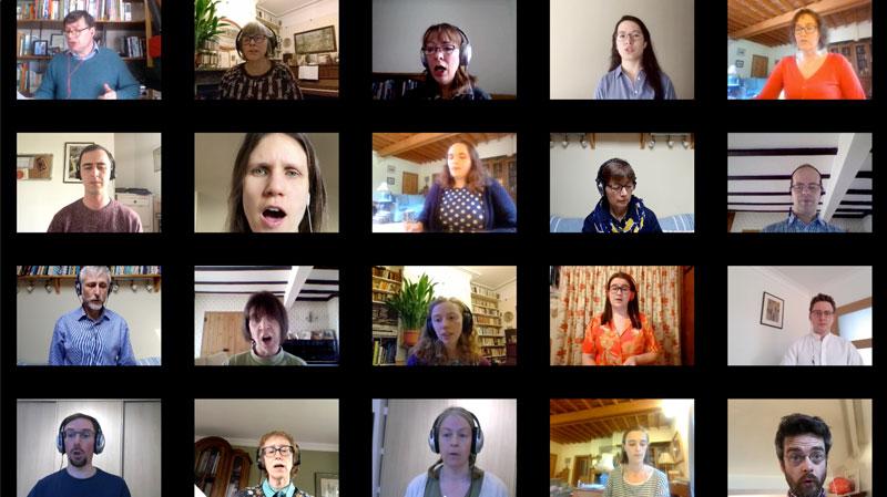 The virtual choir of St Olave's