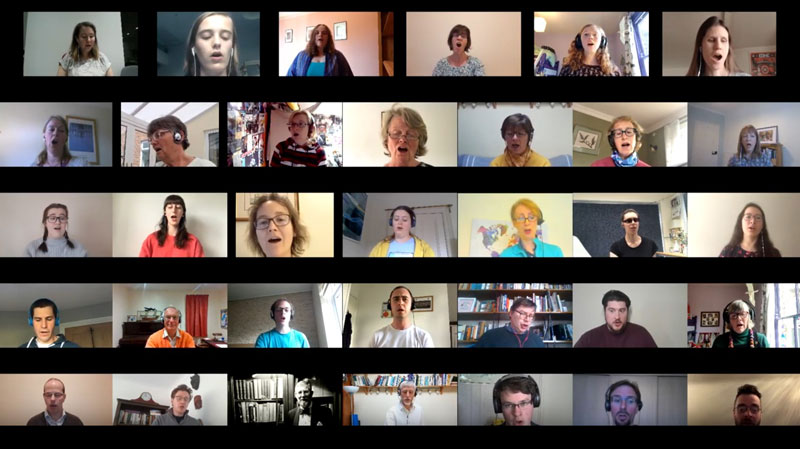 The virtual choir of St Olave's