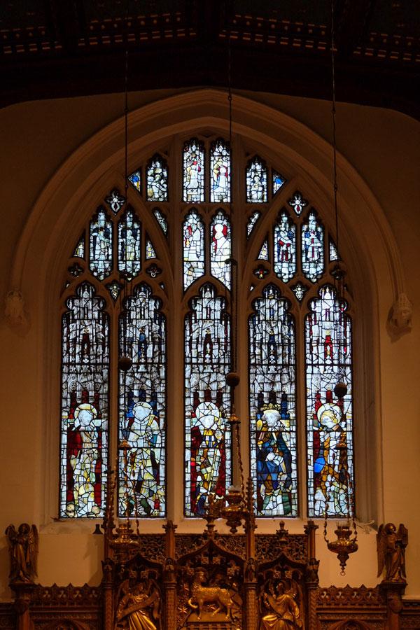 The 15th century east window