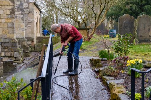 Churchyard clear up