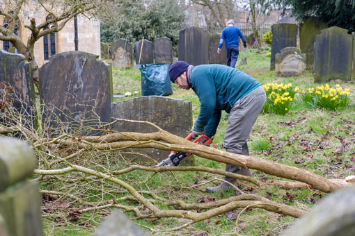 Churchyard clear up