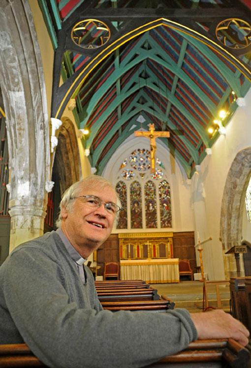 Derek Earis in St Helen's Church