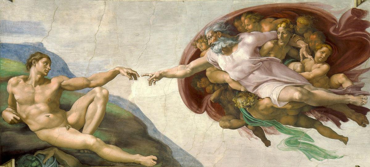 "Michelangelo ""Creation of Adam"""