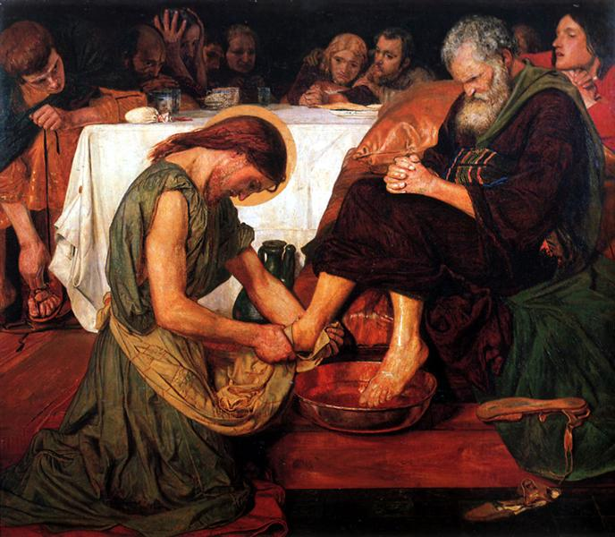 Jesus washing Peter's feet by Ford Madox Brown (1876)