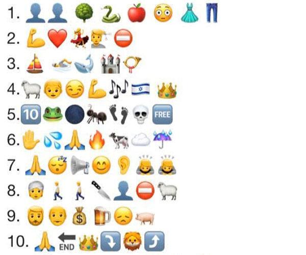 Emojis Quiz part 1