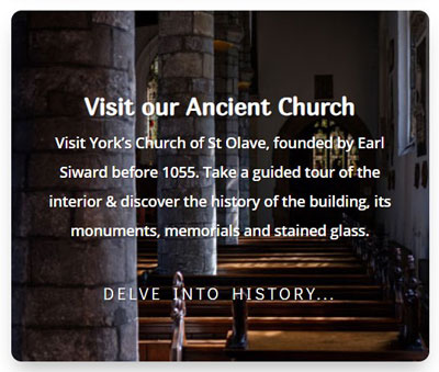 The most recent website page - visit our ancient church