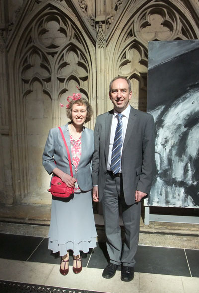 Tina and Peter prepare to meet the Queen and Prince Philip