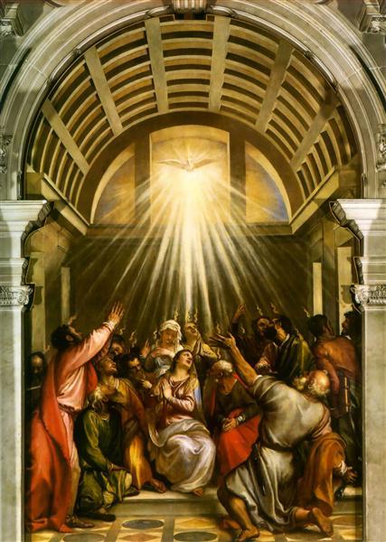 Pentecost by Titian (c. 1545)