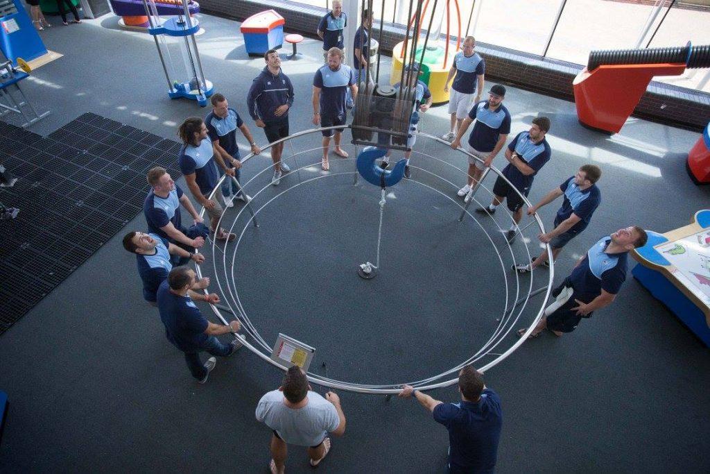 Team building at a unique venue in Cardiff Bay