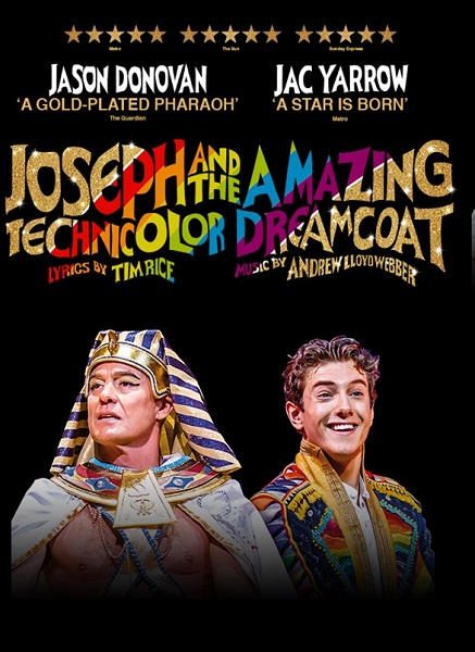 JASON DONOVAN AND JAC YARROW TO REPRISE ROLES IN JOSEPH AND THE AMAZING TECHNICOLOR DREAMCOAT