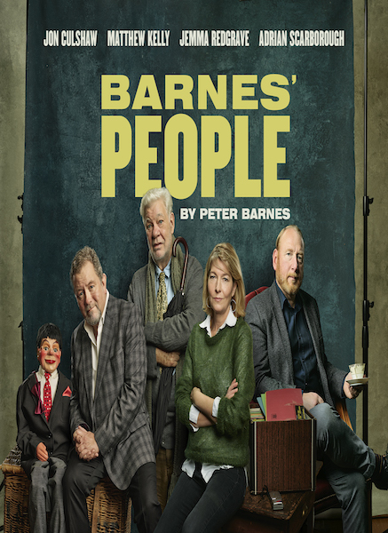 Barne's People by Peter Barnes, starring Jon Culshaw, Matthew Kelly, Jemma Redgrave and Adrian Scarborough