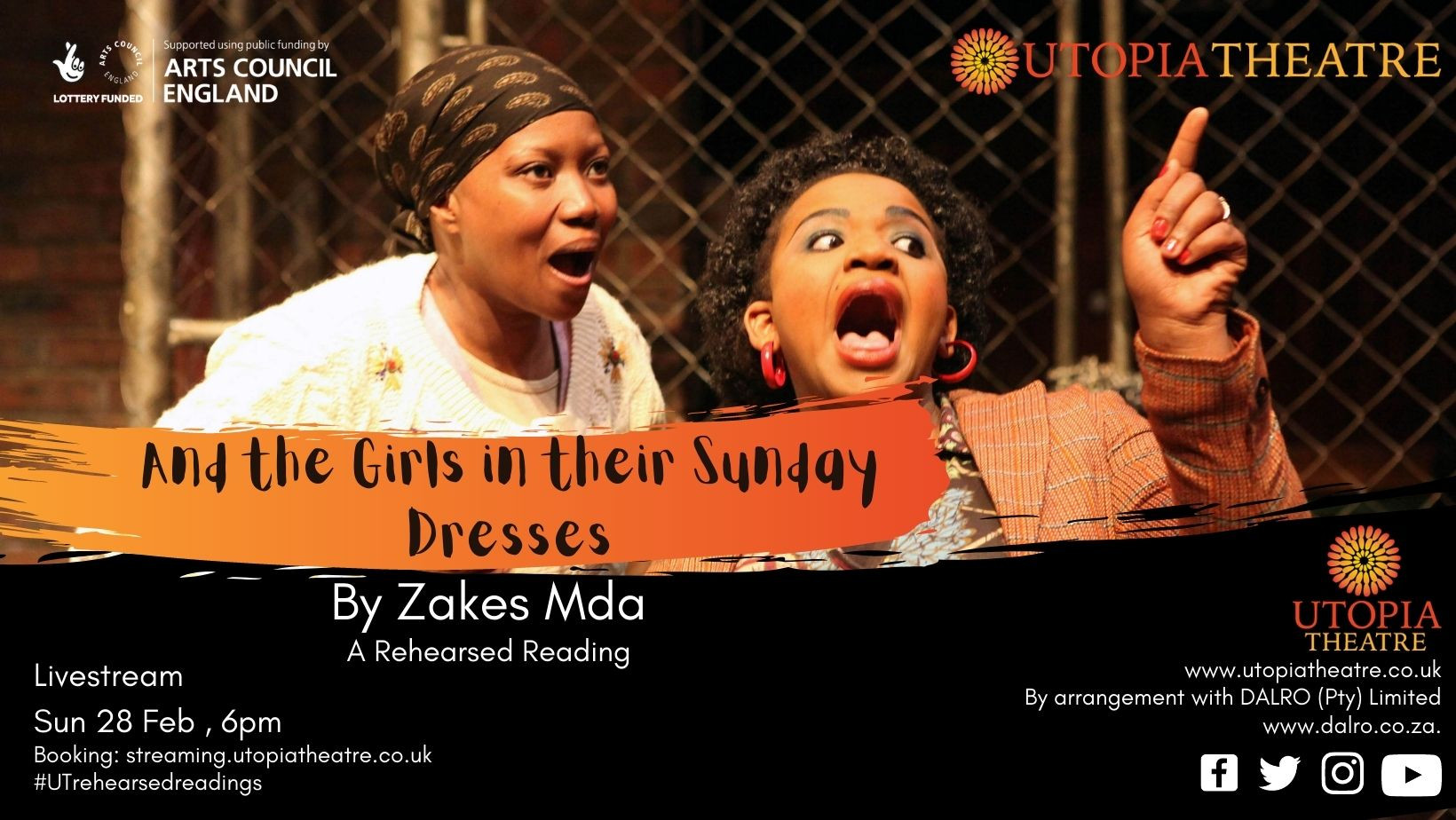 Creative Hub Rehearsed Readings - And the Girls in Their Sunday Dresses by Zakes Mda