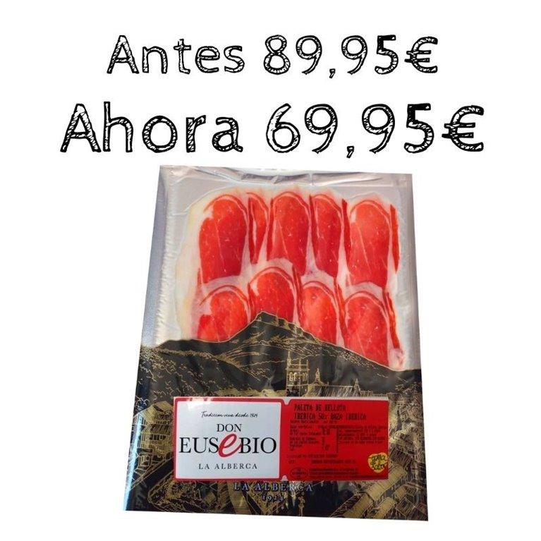 1 kg Paleta de Bellota Ibérica 50% Raza Ibérica Eusebio Salamanca a máquina