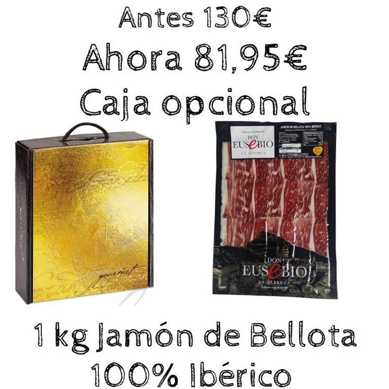 10 sobres jamón de bellota 100% Ibérico Don Eusebio a máquina