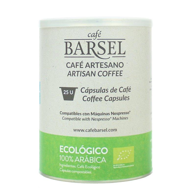 100% Arábica ECOLÓGICO - Cápsulas compatibles Nespresso®, 25 ud