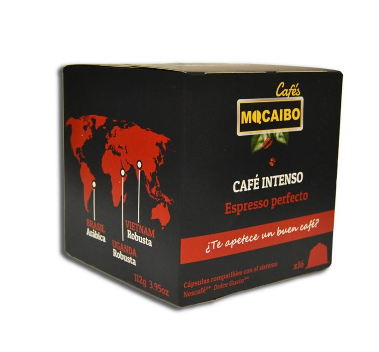 16 CÁPSULAS CAFÉ INTENSO- COMPATIBLES DOLCE GUSTO