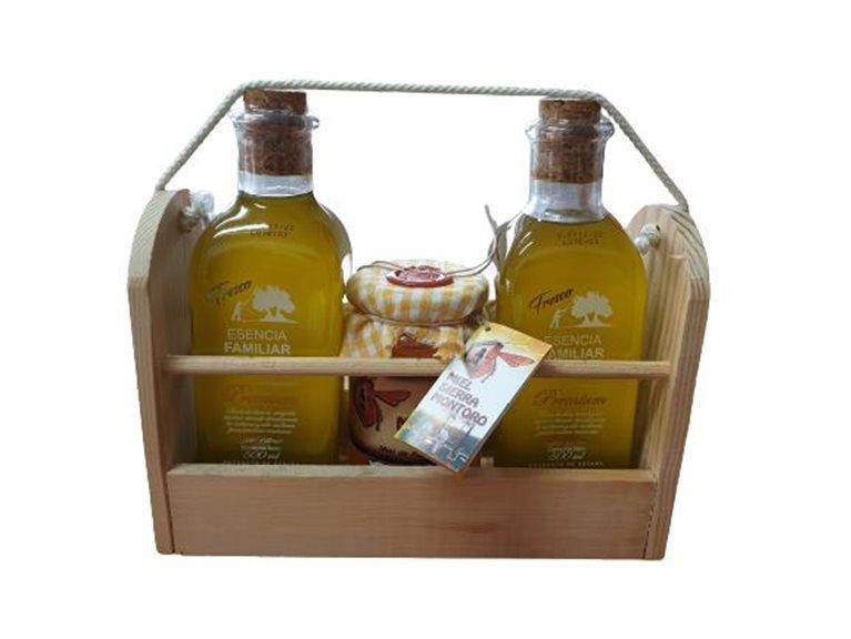 2 botellas AOVE + miel de azahar