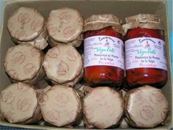 2 cajas de pimiento asado picante 24 tarros de 314 ml