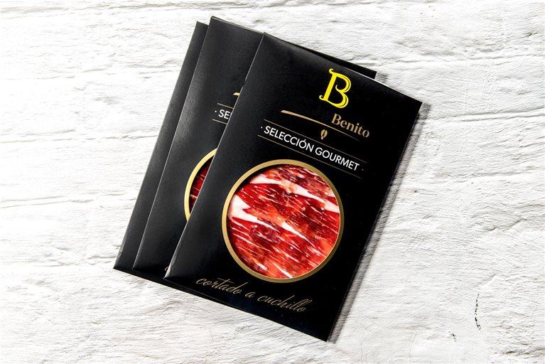 20 sobres Paleta Selección Gourmet etiqueta negra Benito cortada a cuchillo