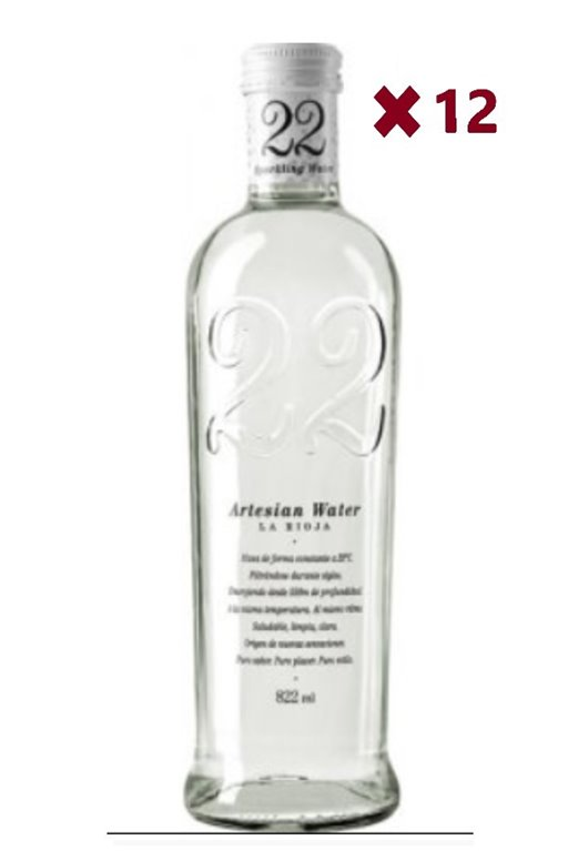 22 Artesian Water con Gas 822 ml Caja 12