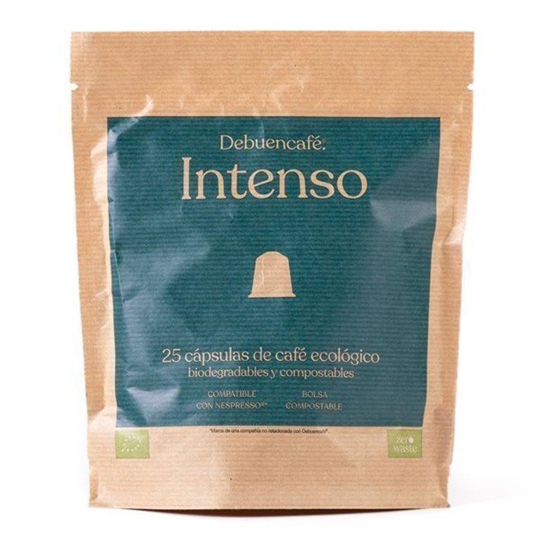 25 Debuencafé Compostable Capsules Compatible with Nespresso - INTENSE