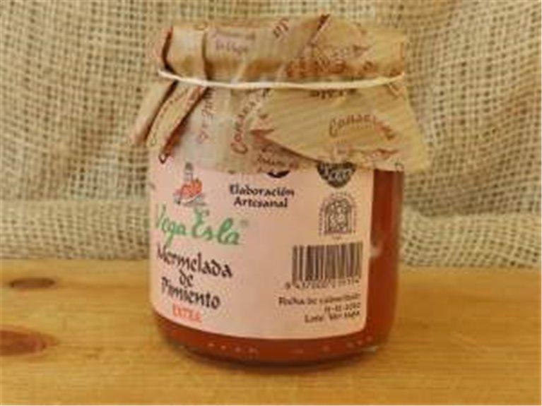 3 cajas de mermelada de pimiento 36 tarros de 250 ml, 3 ud